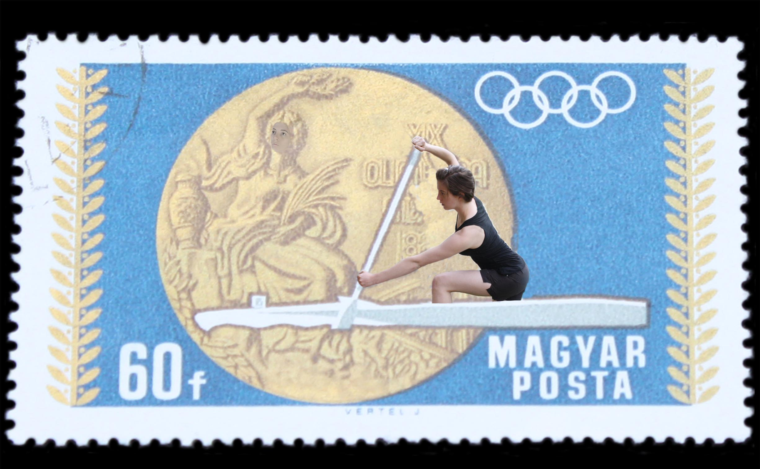 Stamp Collection (Olympics – Canoeing)