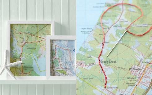 Martha Stewart Map Frames