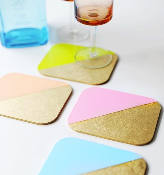 Painted Wood Coasters