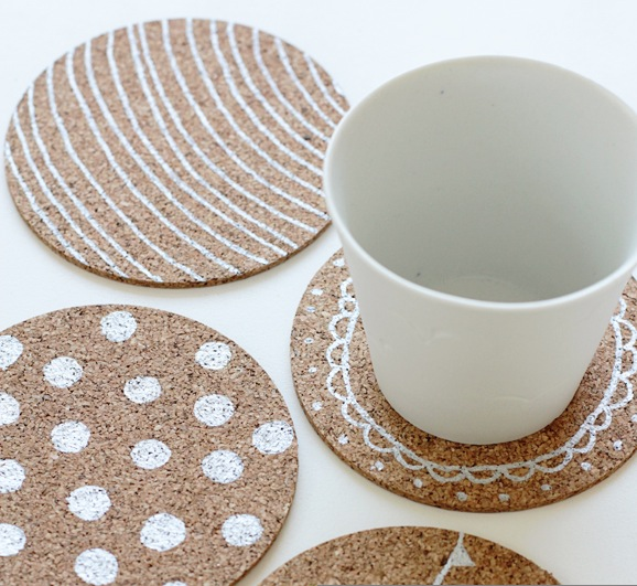 Paint Silver Coasters