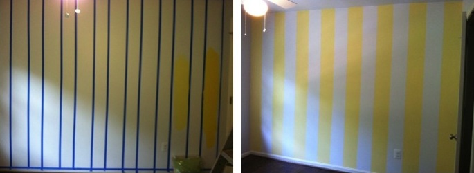 Striped Nursery Walls