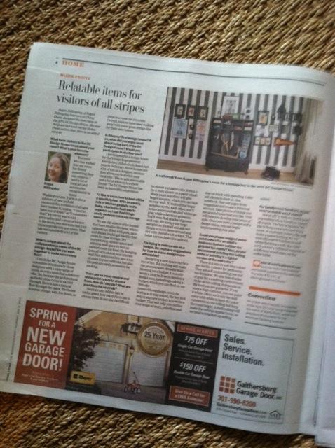 The Washington Post,  Local Living , May 2, 2013