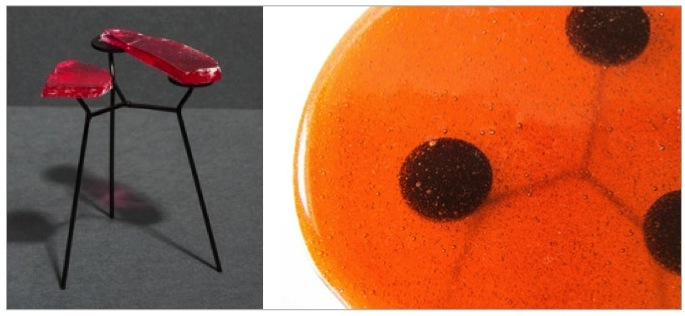 Lollipop tables! Tables made from hard boiled sweets, by  Lanzavecchia + Wai.