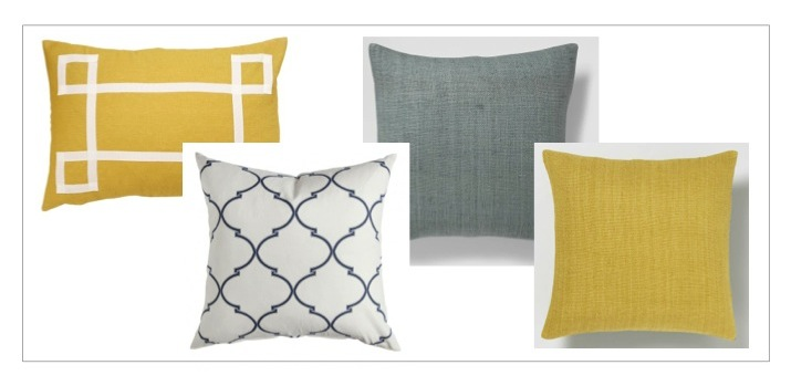 Pillows from  Caitlin Wilson Textiles  and  West Elm