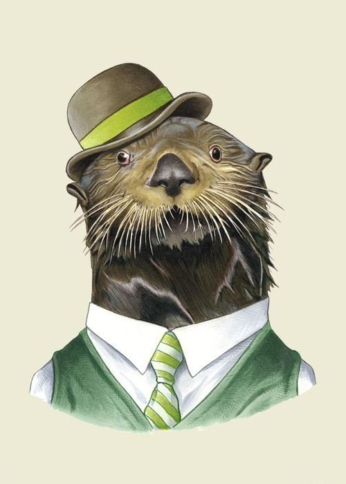 Sea Otter ,  Berkley Illustration