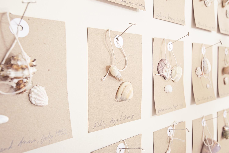Shell Art wall by Regan Billingsley Interiors