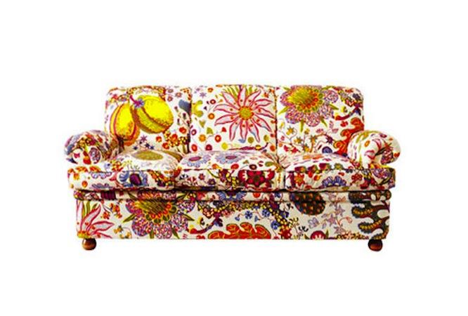Sofa Upholstered in Josef Albers Fabric
