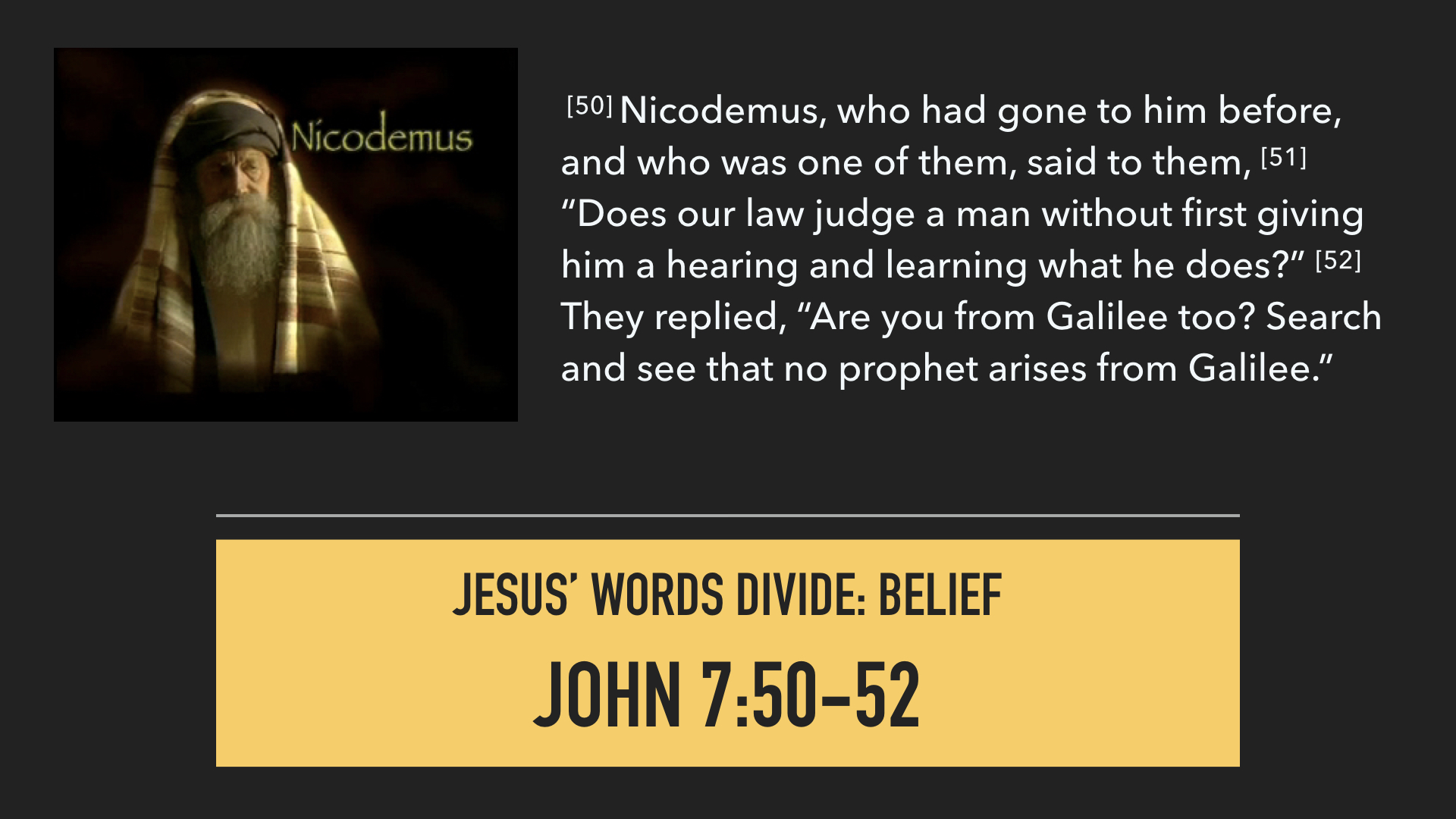 04 08 18 - The Gospel of John: No One Like Him — Watershed