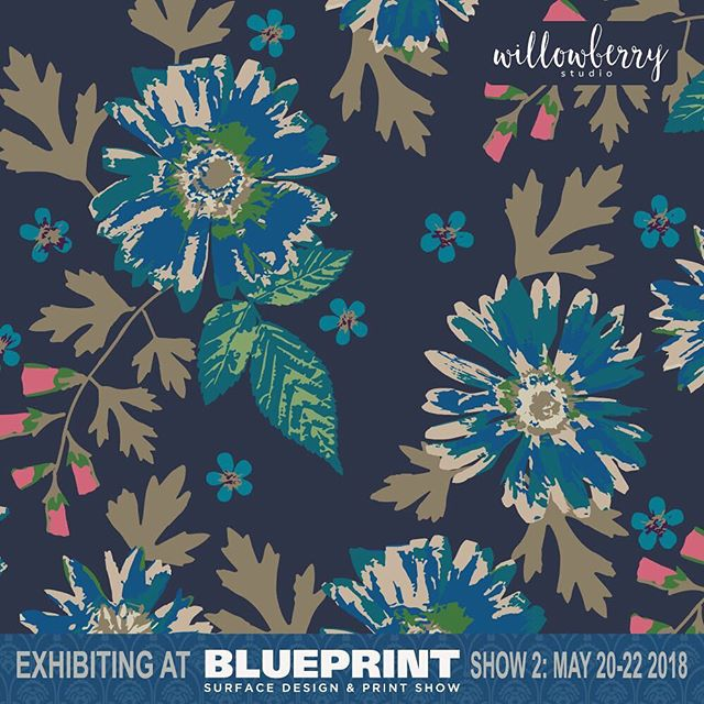 It won't be long now, #blueprintshows here I come! ⠀⠀⠀⠀⠀⠀⠀⠀⠀ ⠀⠀⠀⠀⠀⠀⠀⠀⠀ #willowberrystudio #surfacedesign #printandpattern #mycreativebiz #dscolor #originalart #creativebusiness #blueprintshow #artistofinstagram #getcreative #ciamember #surfacepattern #artforlicensing #design #textile #textiledesign #textiledesigner #fashionprints