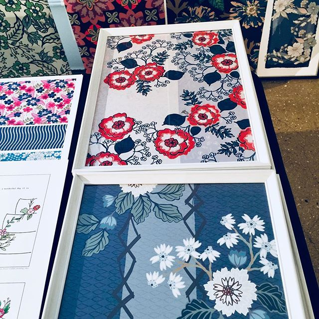 Enjoyed my first day @blueprintshow Looking forward to tomorrow! . . . . #willowberrystudio  #surfacedesign #printandpattern #wallart  #mycreativebiz #makearteveryday #creativehappylife #artlicensingshow  #originalart #creativebusiness #blueprintshow #calledtobecreative #creativity #creativityfound #artistofinstagram #surfacepattern #artforlicensing #design #textile #textiledesign #textiledesigner #fashionprints