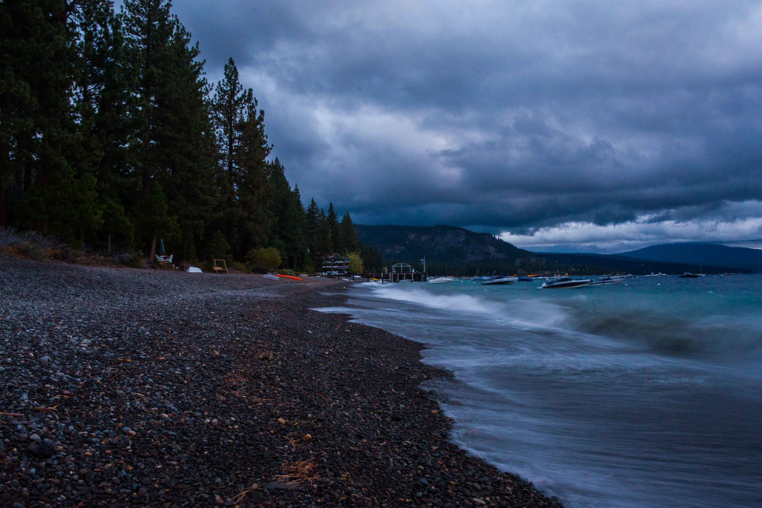 stormy at 6am, no sunrise