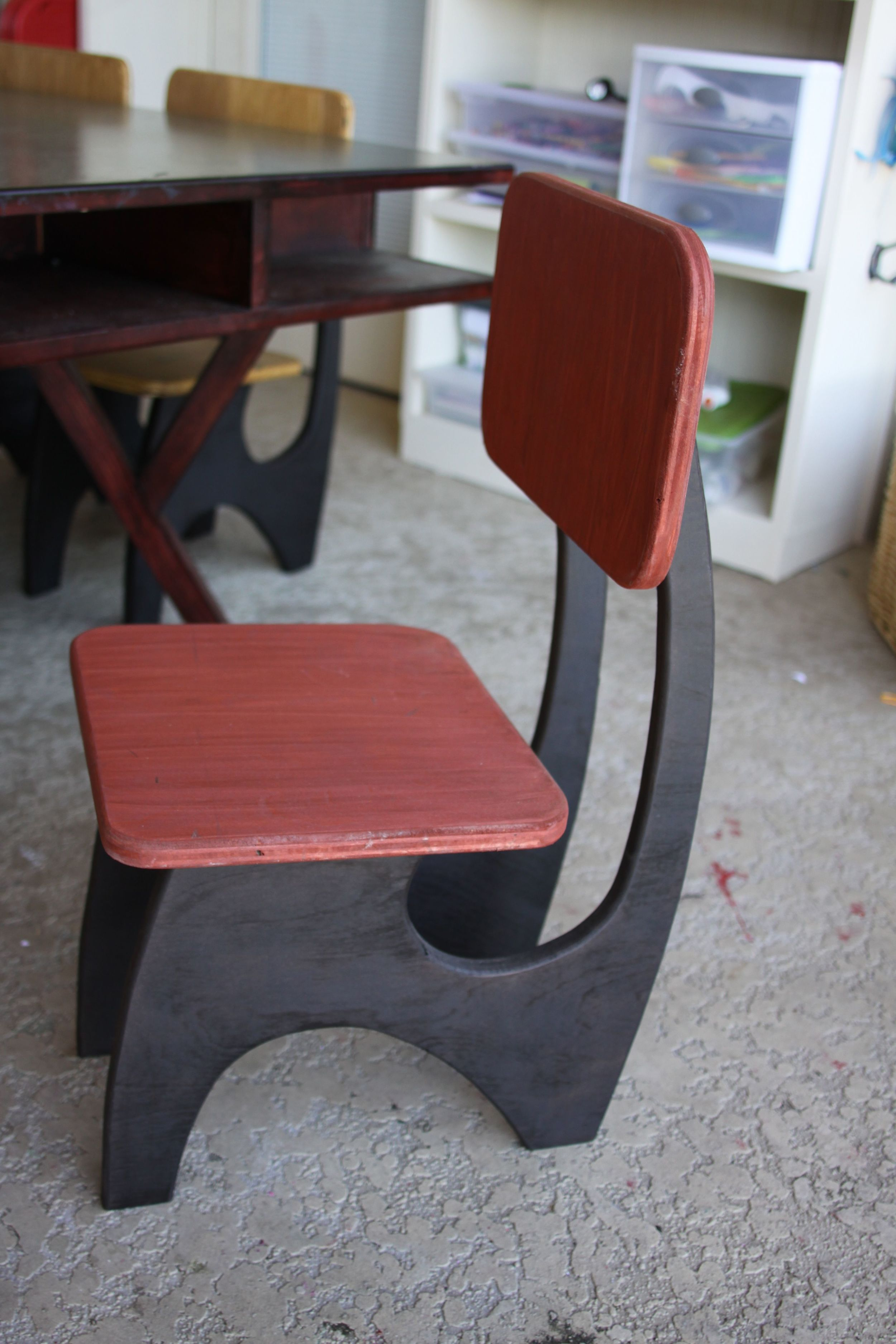 Modern Kids Chair - Red