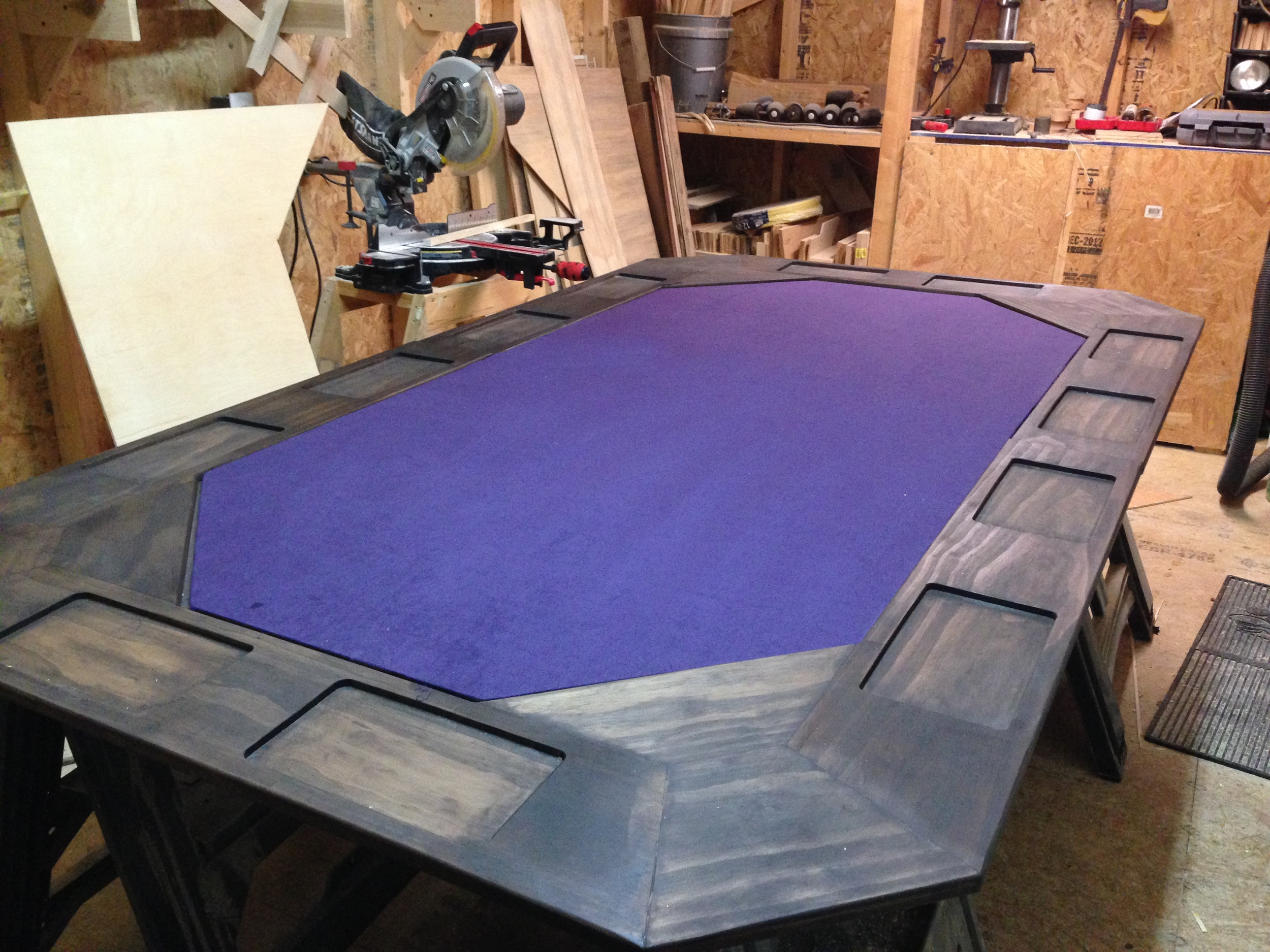 Custom Built Poker Table