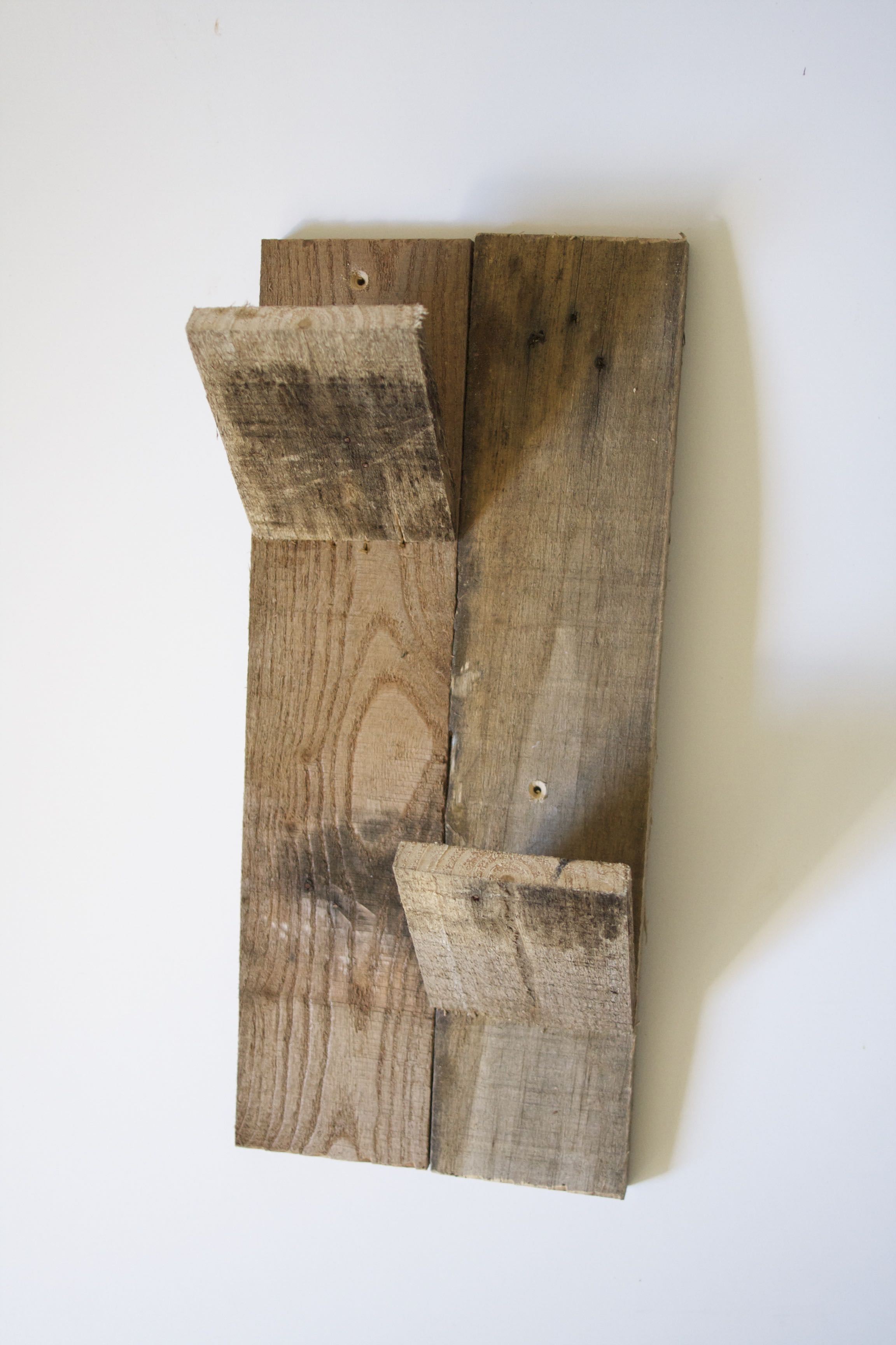 Pallet Wood Wall Wine Holder - Double