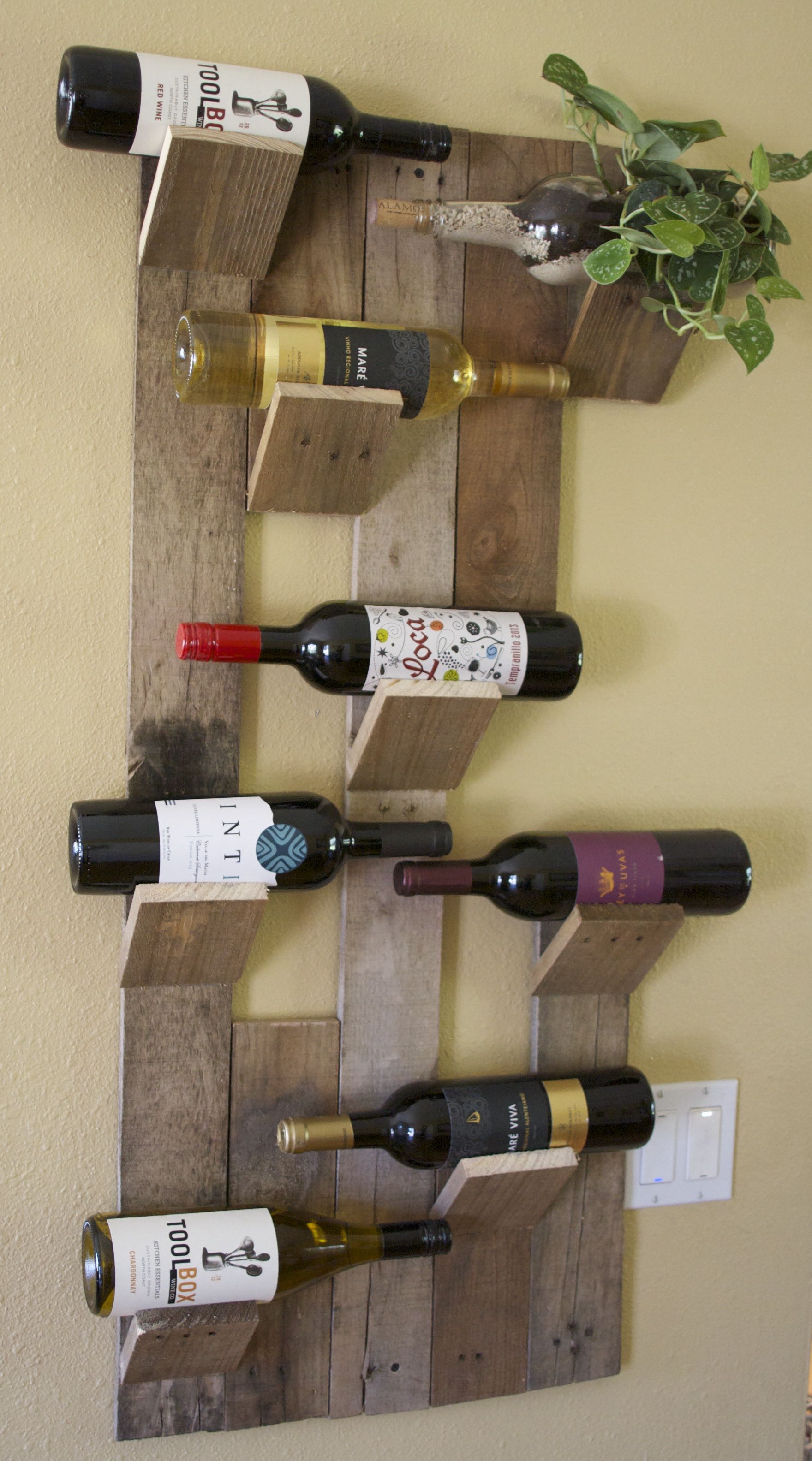 8 Bottle Wine Bottle Succulent Holder