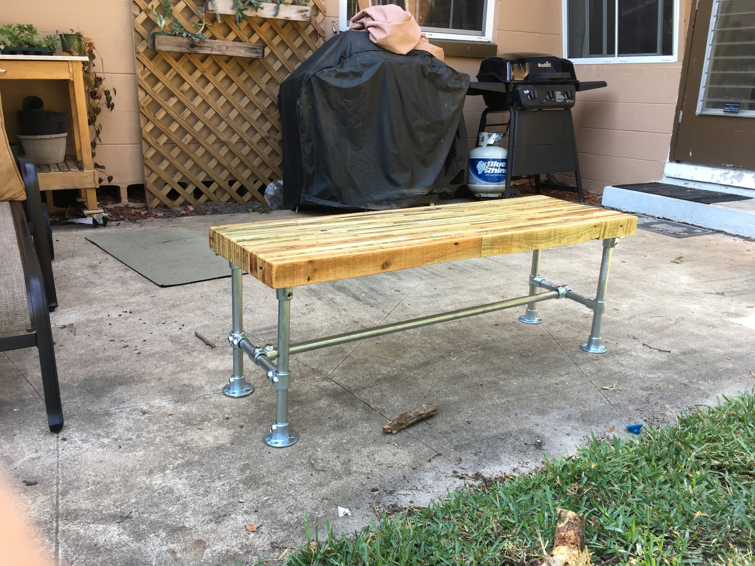 Pallet Wood / Steel Coffee Table