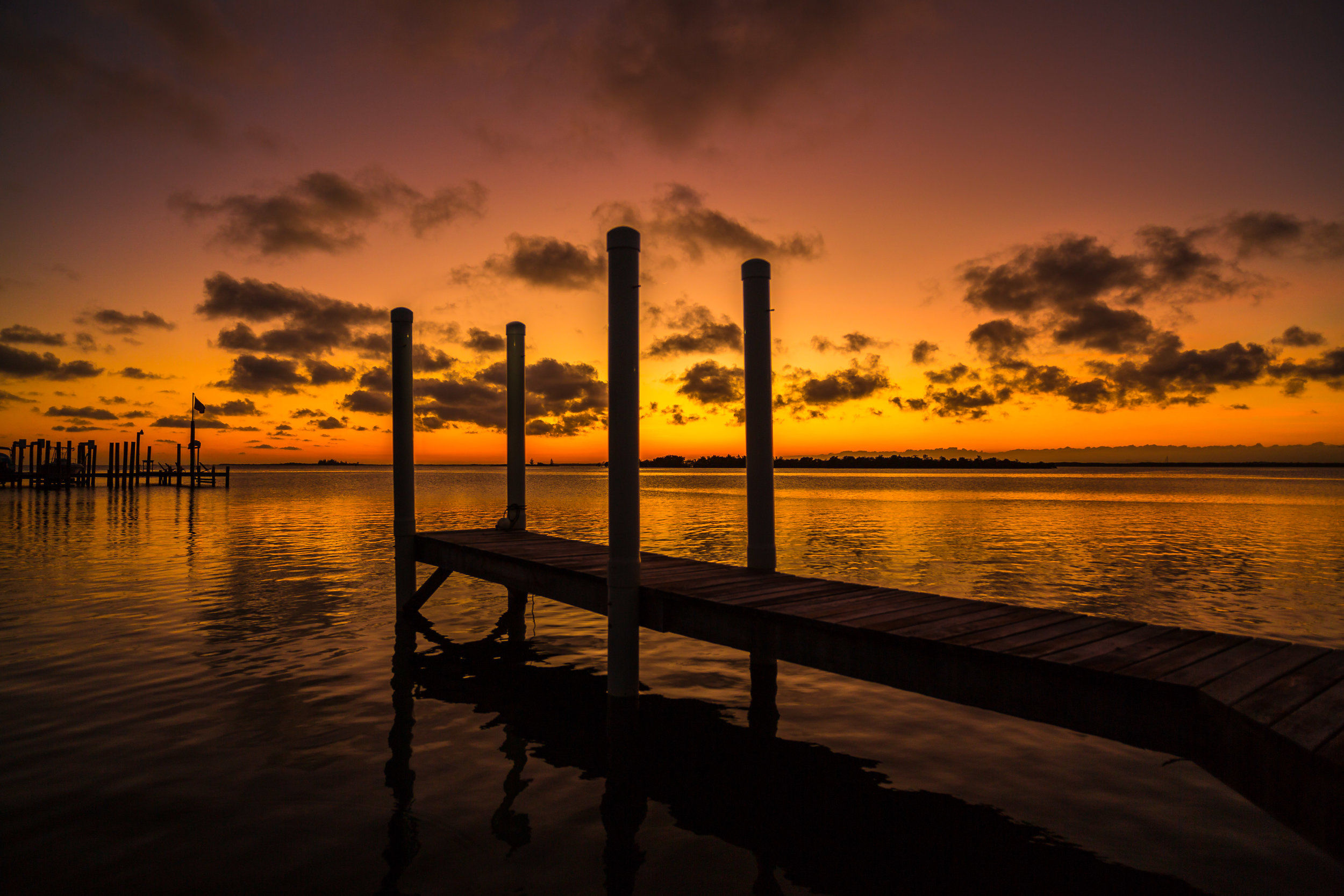 Sunset Belize Dock.jpg
