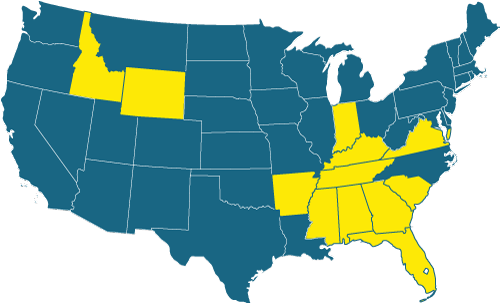 The States Highlighted in Yellow Offer Workers' Comp Premium Discounts