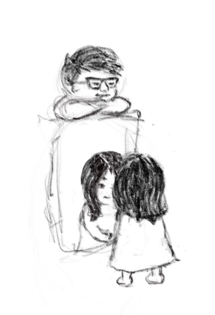 Drawn on iPad using ProCreate.