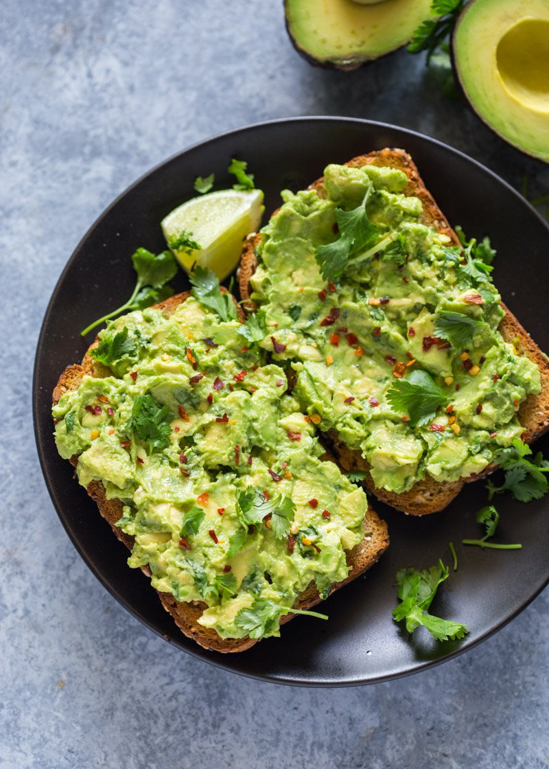 This is a picture of avocado toast.