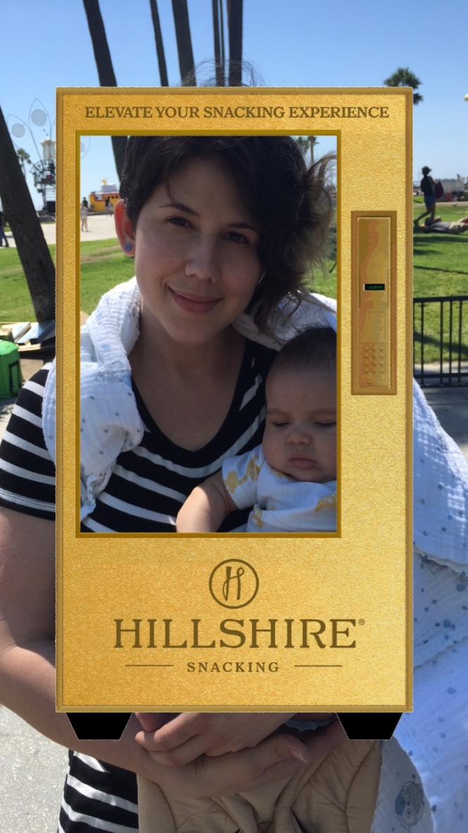 We even made a Snaptchat filter like every brand does nowadays (that's my wife and baby in the photo, btw).