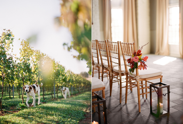 dogs-vineyard-indoor-fall-wedding-lanterns-aisle-marker-early-mountain-vineyard.jpg