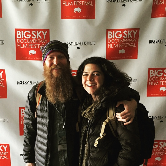 Chad A. Stevens and Shaena Mallett at the Big Sky Documentary Film Festival in 2016.