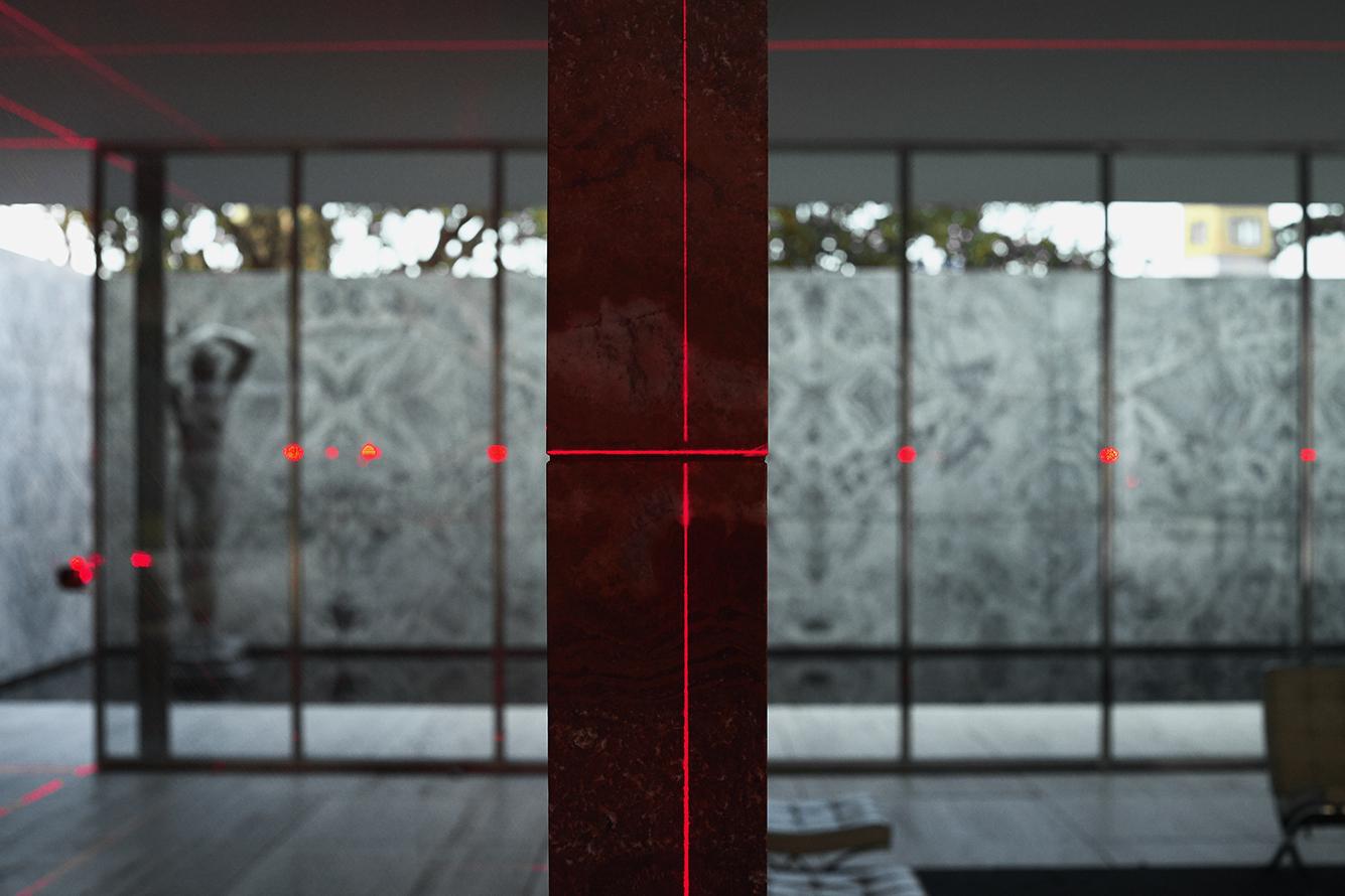 LUFTWERK with MAS CONTEXT  / Geometry of Light  / Barcelona Pavilion