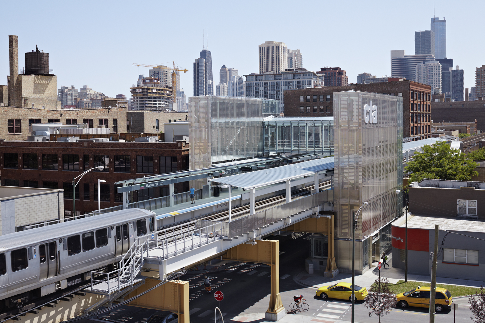 ROSS BARNEY ARCHITECTS / Morgan CTA Station / Chicago