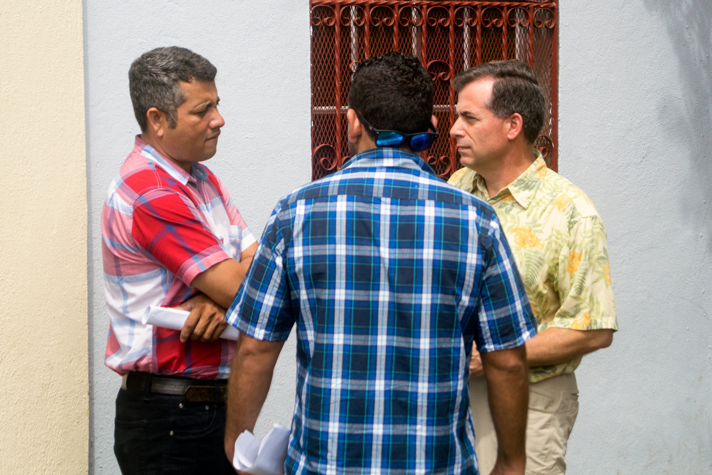 Pastor schlicker talks with a brother nicaraguan pastor about the challenges and joys of ministry.