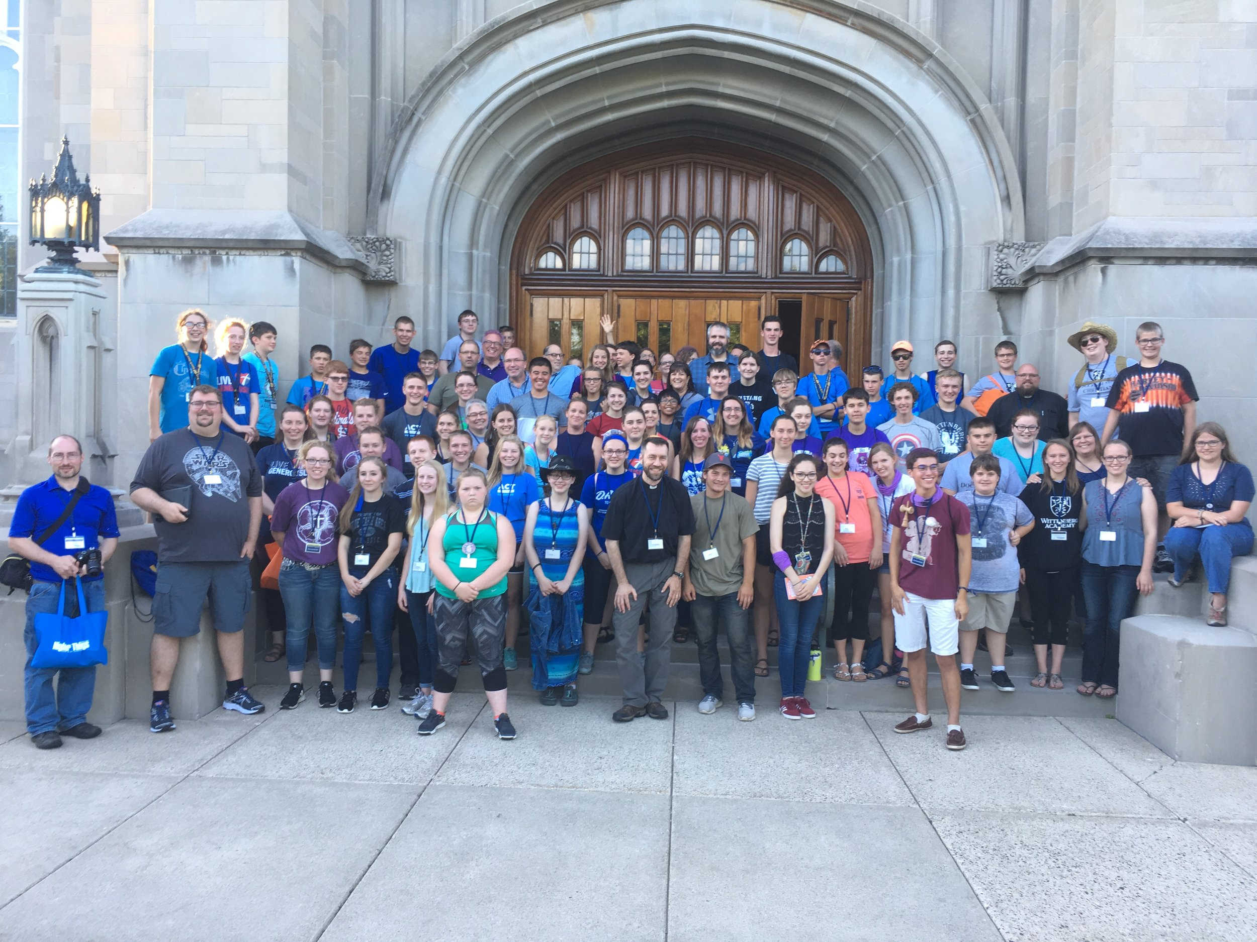 Youth and leaders alike from several congregations from MN South District enjoyed being able to attend the Higher Things Youth Conference close to home this year, from July 3rd-6th on the campus of Carleton College in Northfield. Those attending included St. Paul, Blue Earth; St. John's, Cedar Mills; St. Paul, Chatifield; St. Paul, Fairmont; St. Paul, Fulda; Our Savior, Hutchinson; St. Peter, and Holy Trinity, Lakefield; University Lutheran Chapel, Minneapolis; Immanuel, Plainview; St. John, Plato; St. John's - Rich Valley, Rosemount; First English, Spring Valley; Trinity, Waltham; Our Savior, Winnebago; St. John, Wykoff