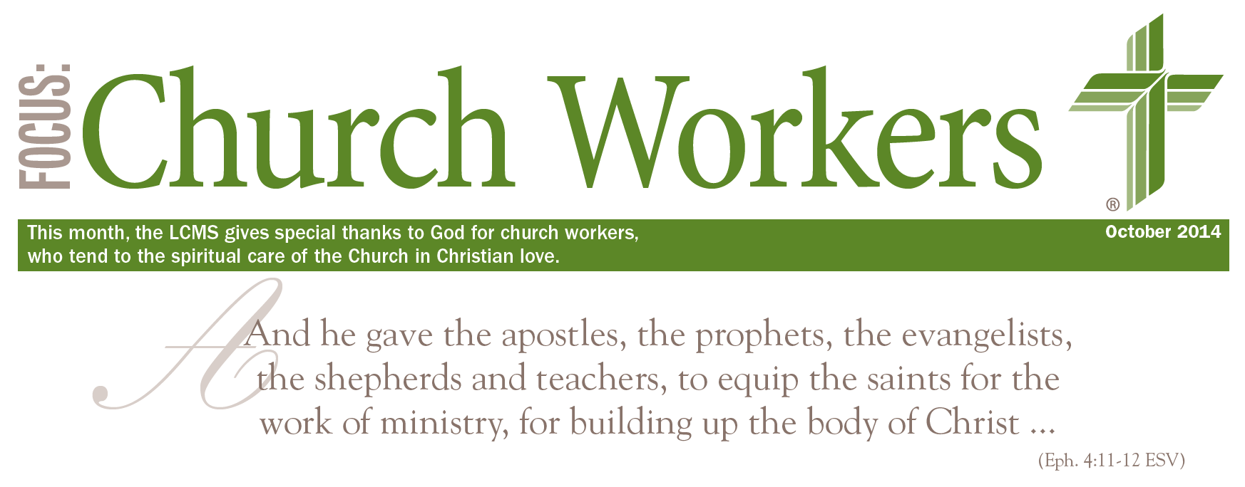 Click the picture to learn more about each classification of church worker in our Synod—and how they could help your church, school, or ministry.