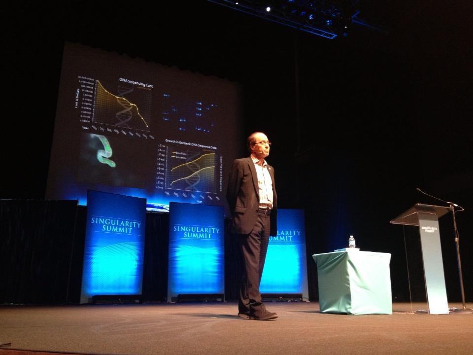 100 years ago, it was morse code,now we have 4G. Not even world wars have stopped the progress - Ray Kurzweil, Singularity Summit 2012