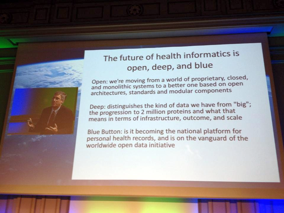The future of health informatics is open, deep and blue - Peter Levin at Health 2.0 Europe 2012