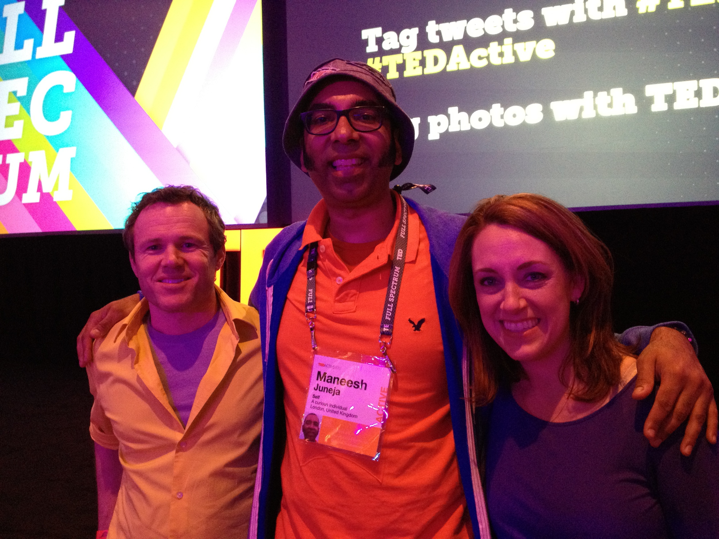 With Rives and Kelly - the hosts of TEDActive 2012