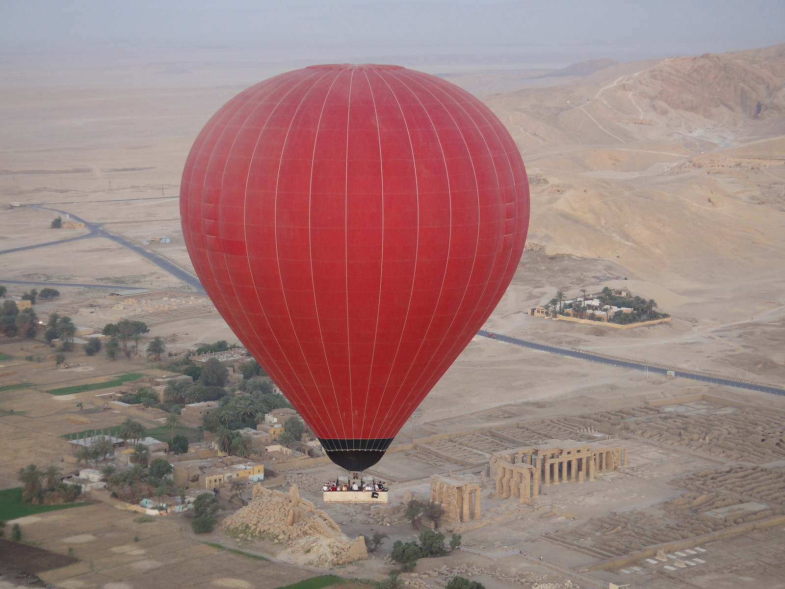 Sunrise hot air balloon ride over Valley of the Kings (Eygpt)