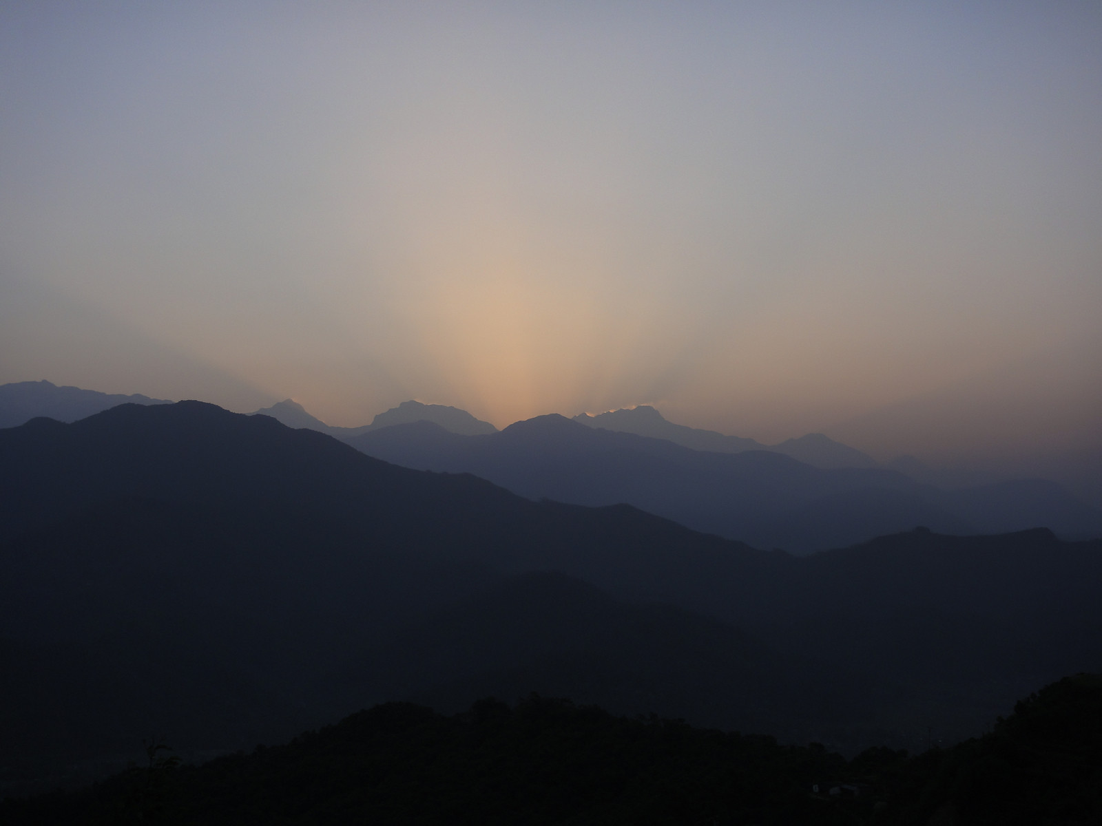 Sunrise view of the Annapurna range (Nepal)