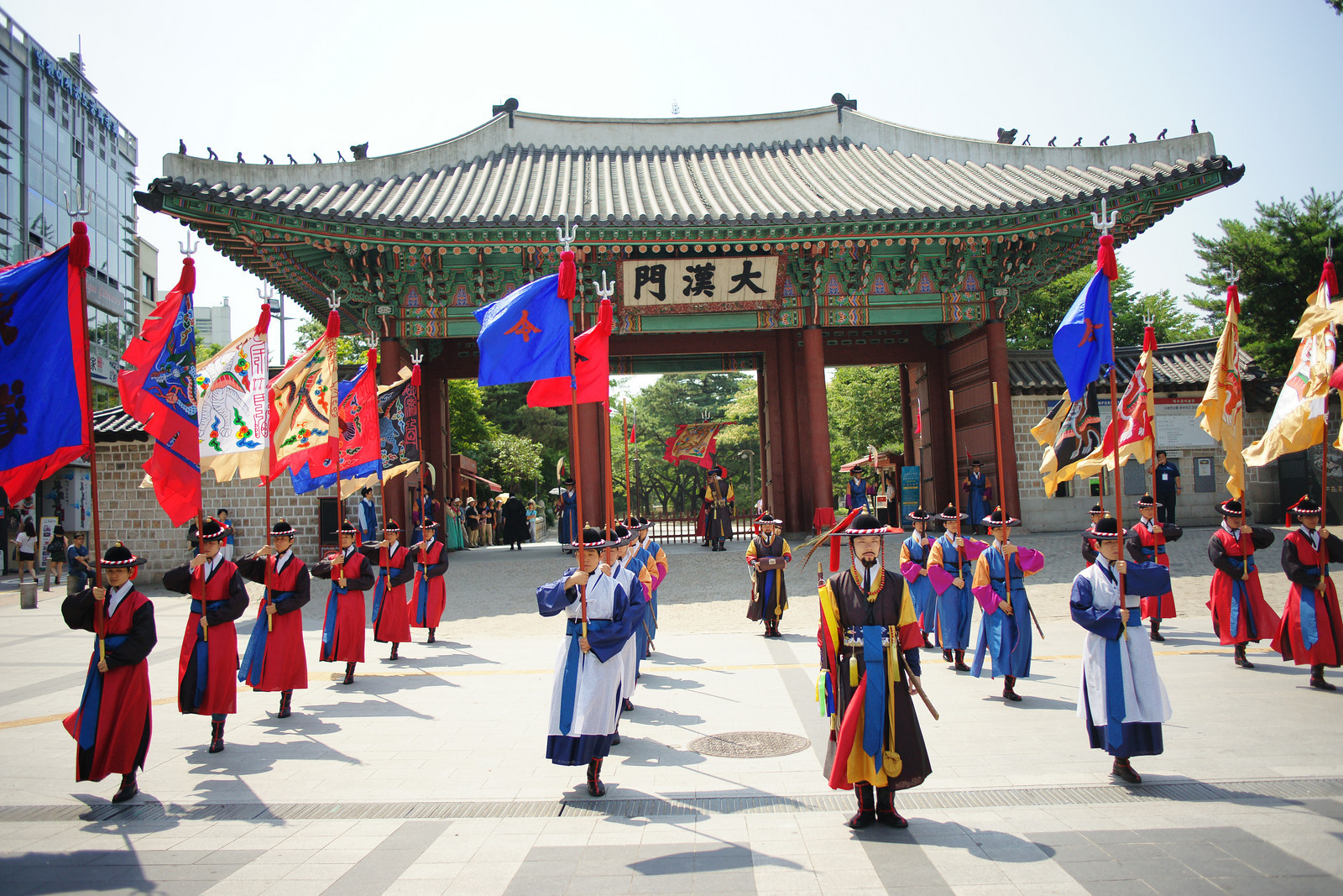 Royal Guard changing ceremony at Gyeongbokgung Palace (Seoul, South Korea)