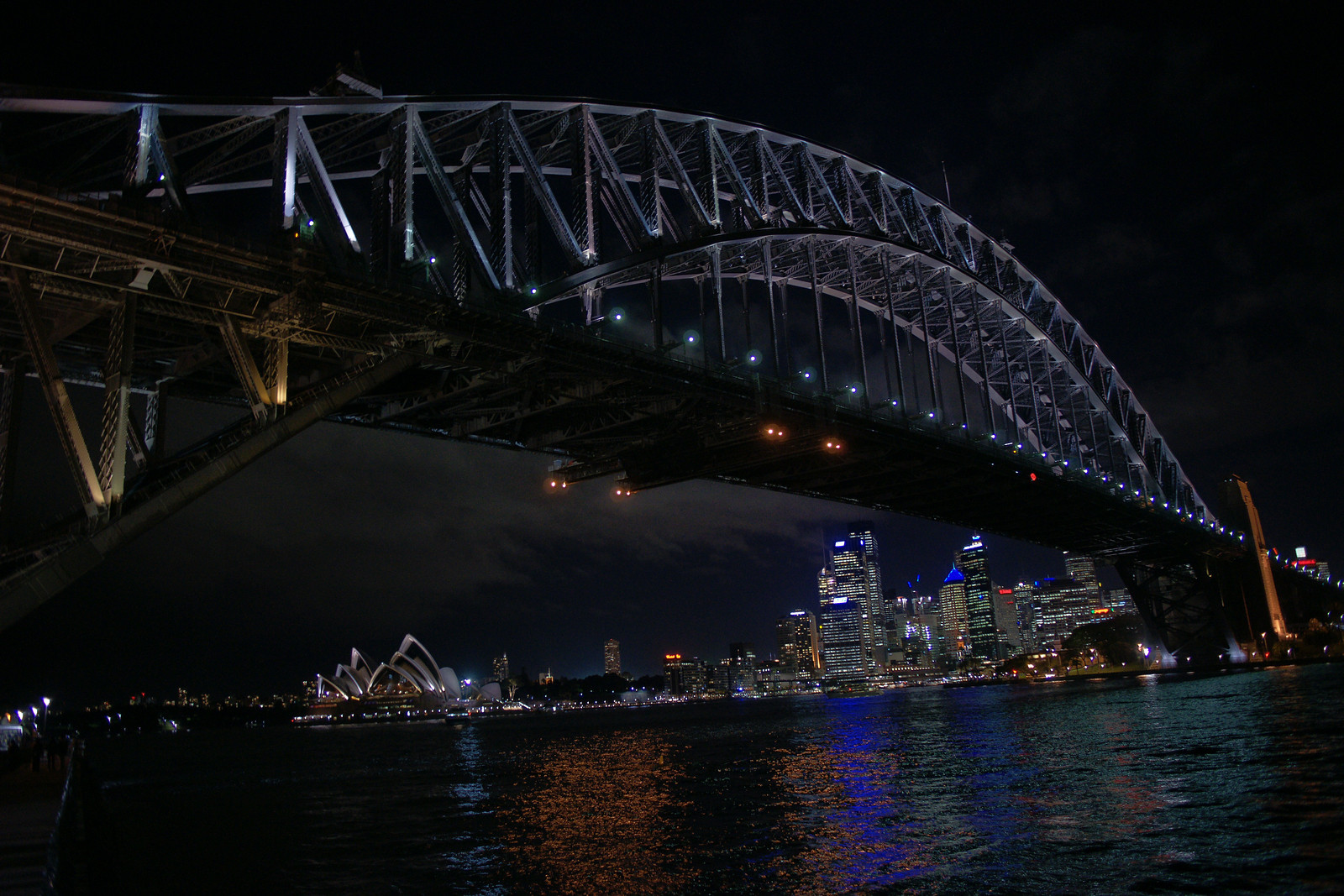 View underneath the Harbour Bridge (Sydney, Australia)