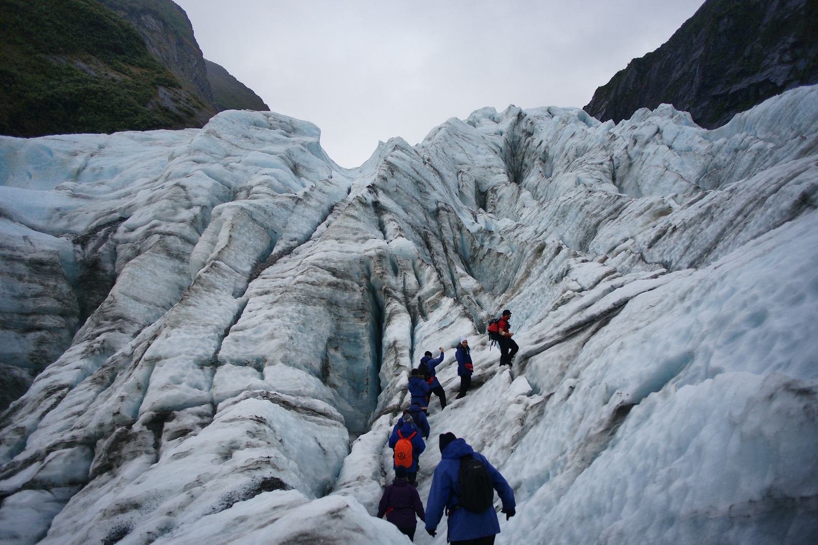Hiking up the Franz-Josef glacier (New Zealand)