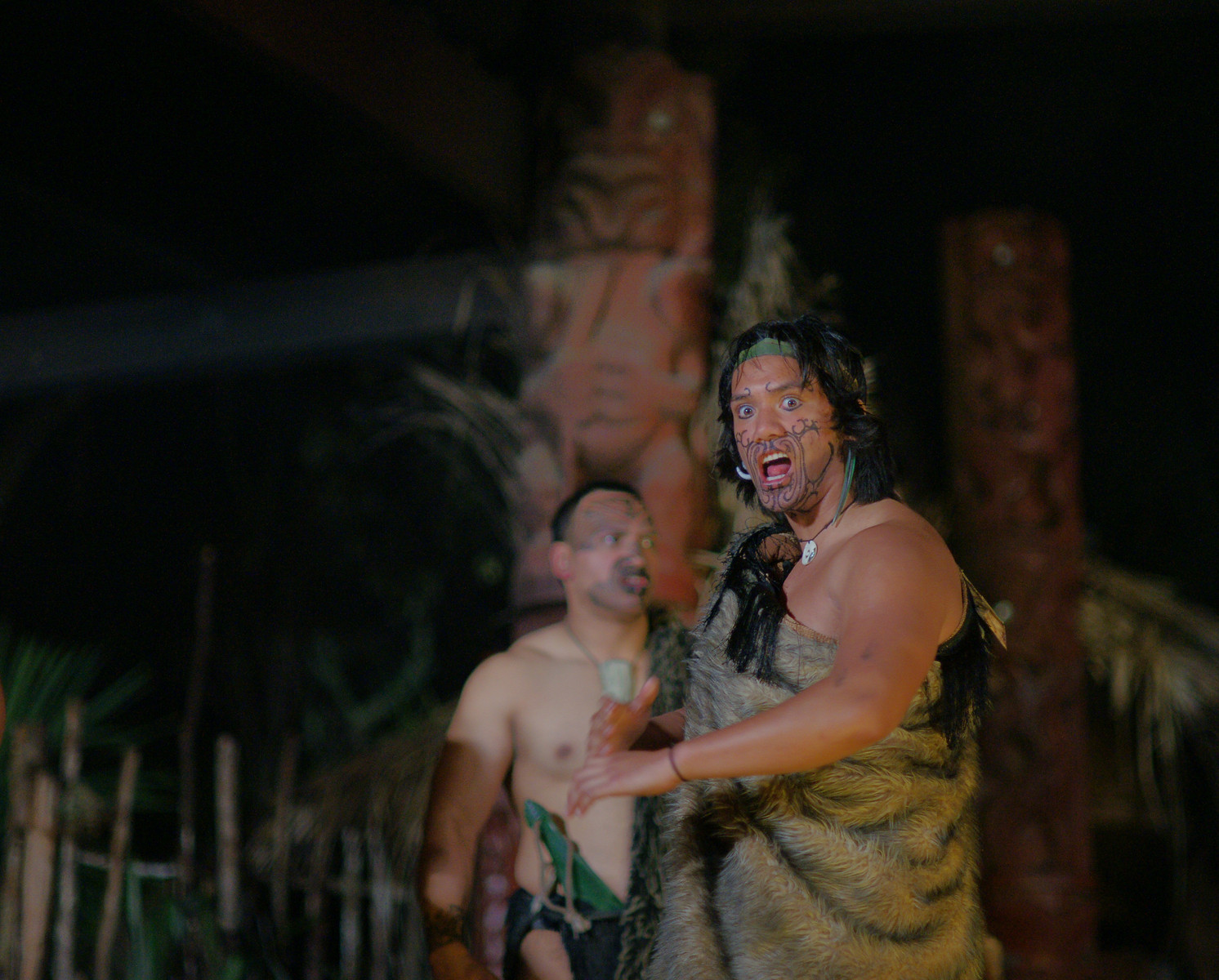 Maori performance at Mitai Village (Rotorua, New Zealand)