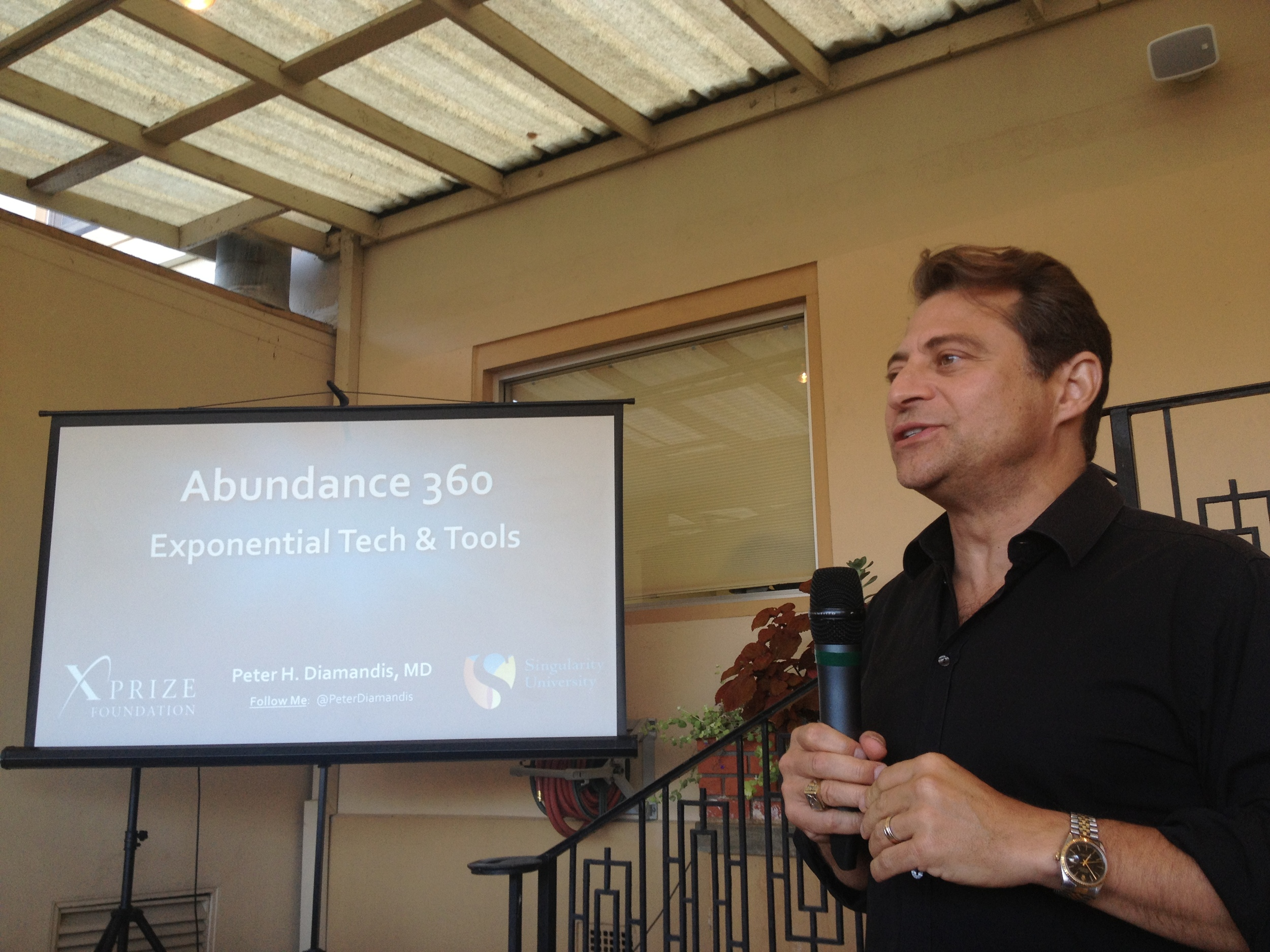 Peter Diamandis's evening lecture on Day 1