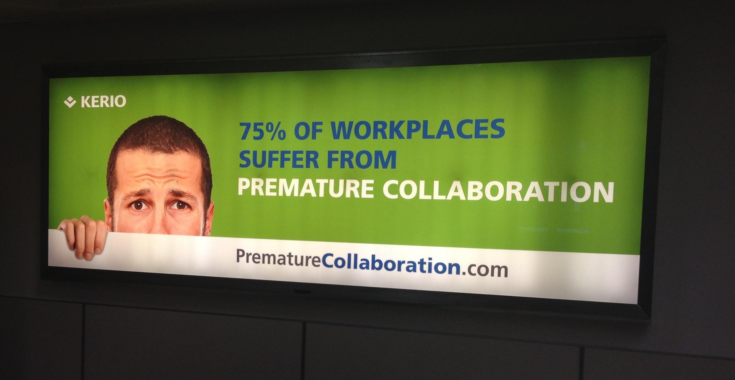 Advert in San Jose Airport, California