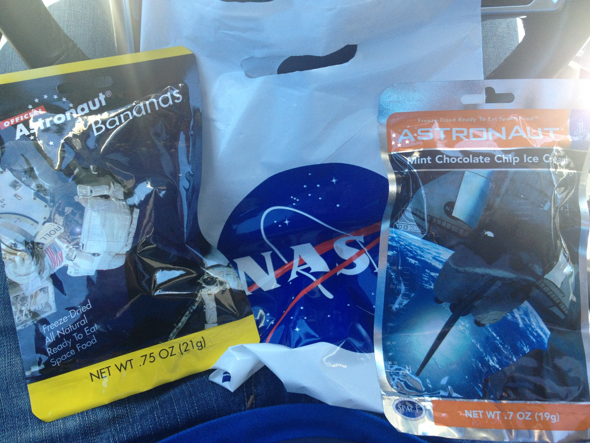Astronaut space food. In case you're wondering, it looks better than it tastes.