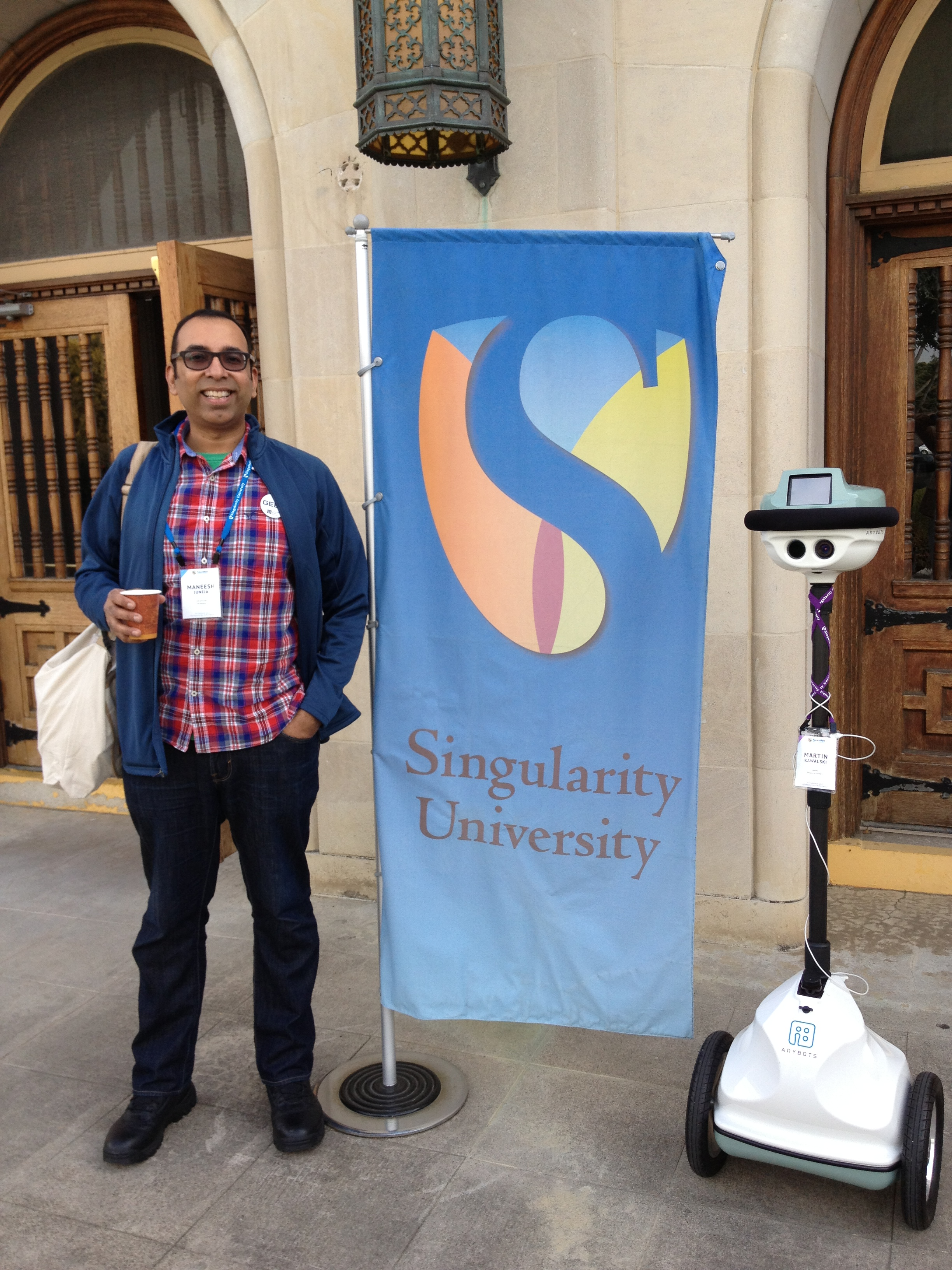 When I turned up to Singularity University, I was greeted by a virtual human!