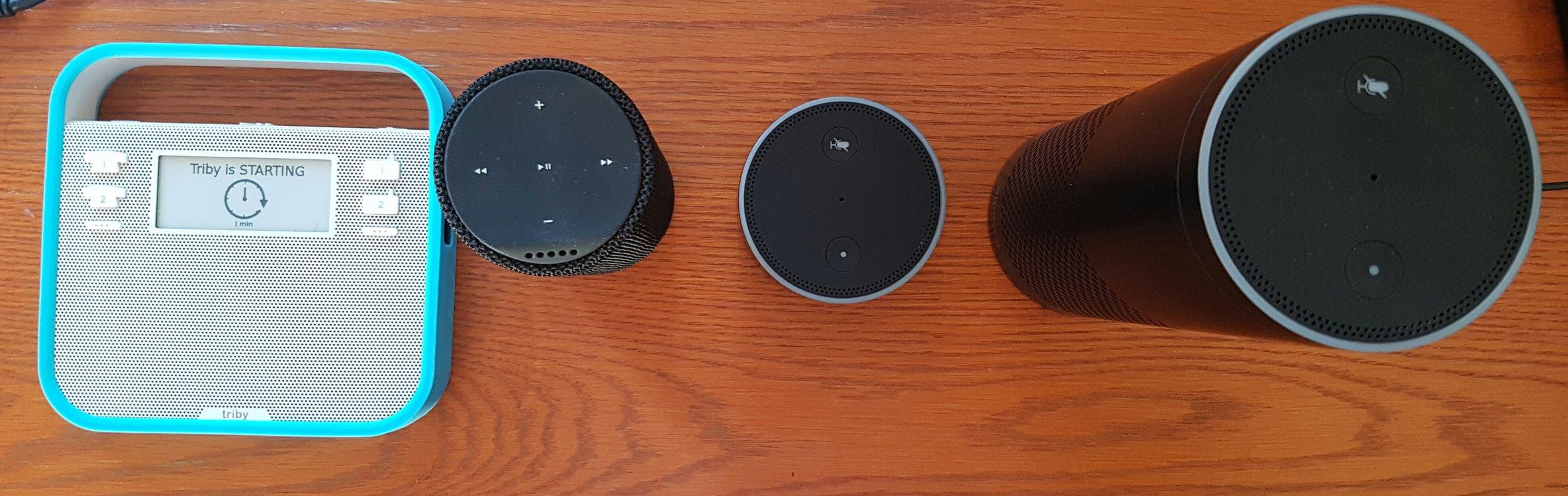 Triby, Amazon's Tap, Dot & Echo