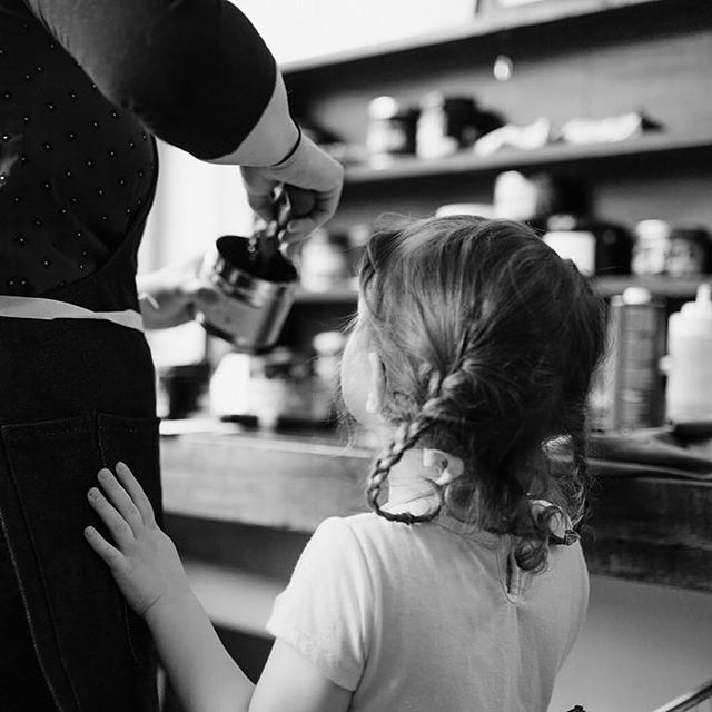 I was lucky enough to be part of @jessicaholleque's #mothersandmakers_project last week. She spent some time in the studio watching me and Evie do what we do. I hope that one of the best gifts I can give my daughters is to show them what is important to me and that I have work I am passionate about. It helps that printing is super fun, too. Check out Jessica's work!