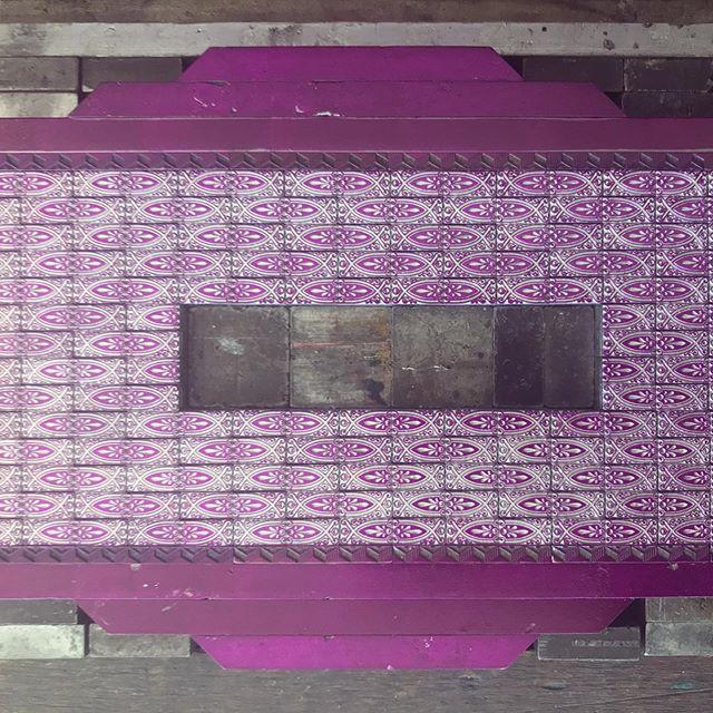 Purple patterns on press.