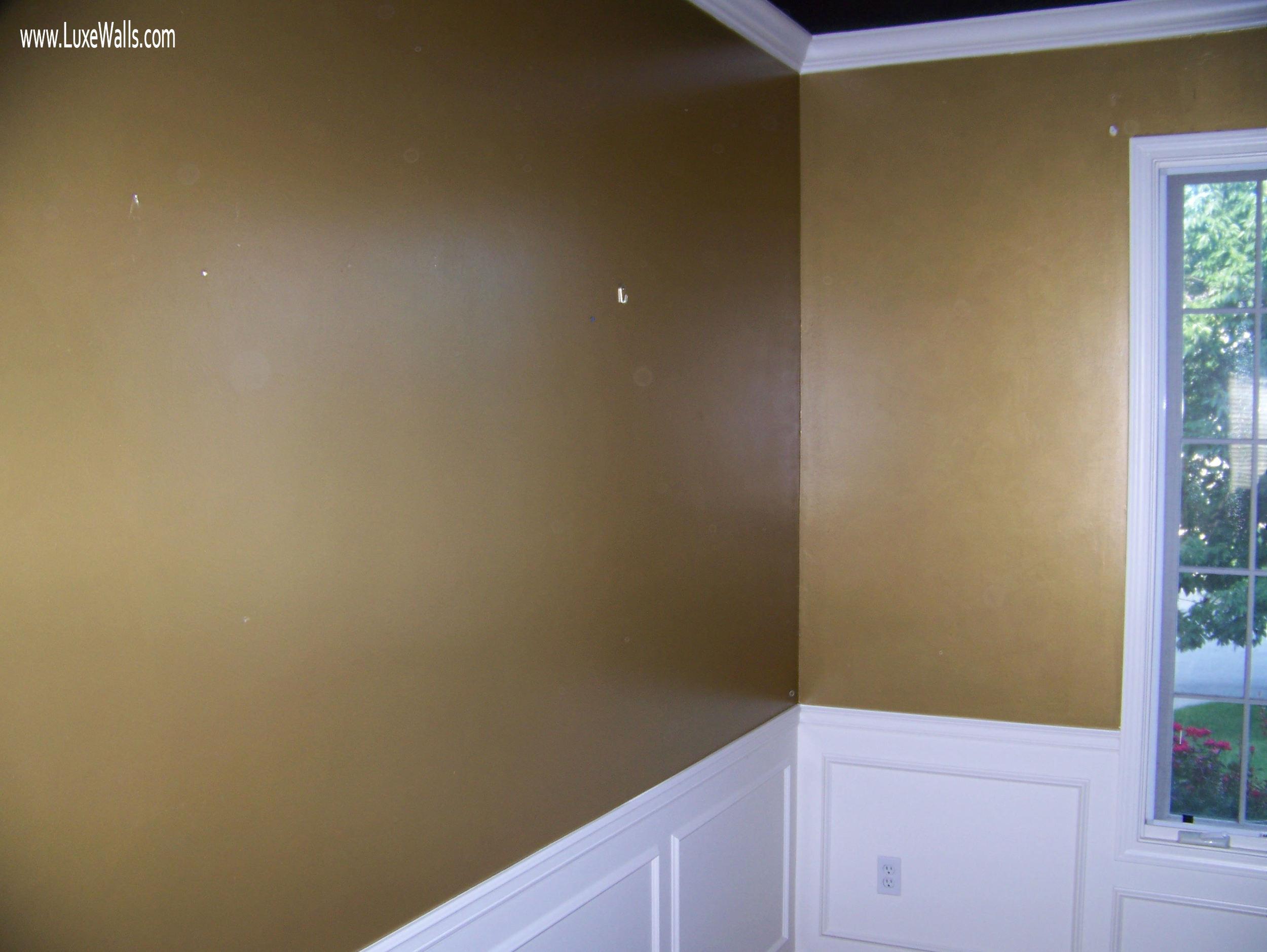 notice black ceiling and white trim