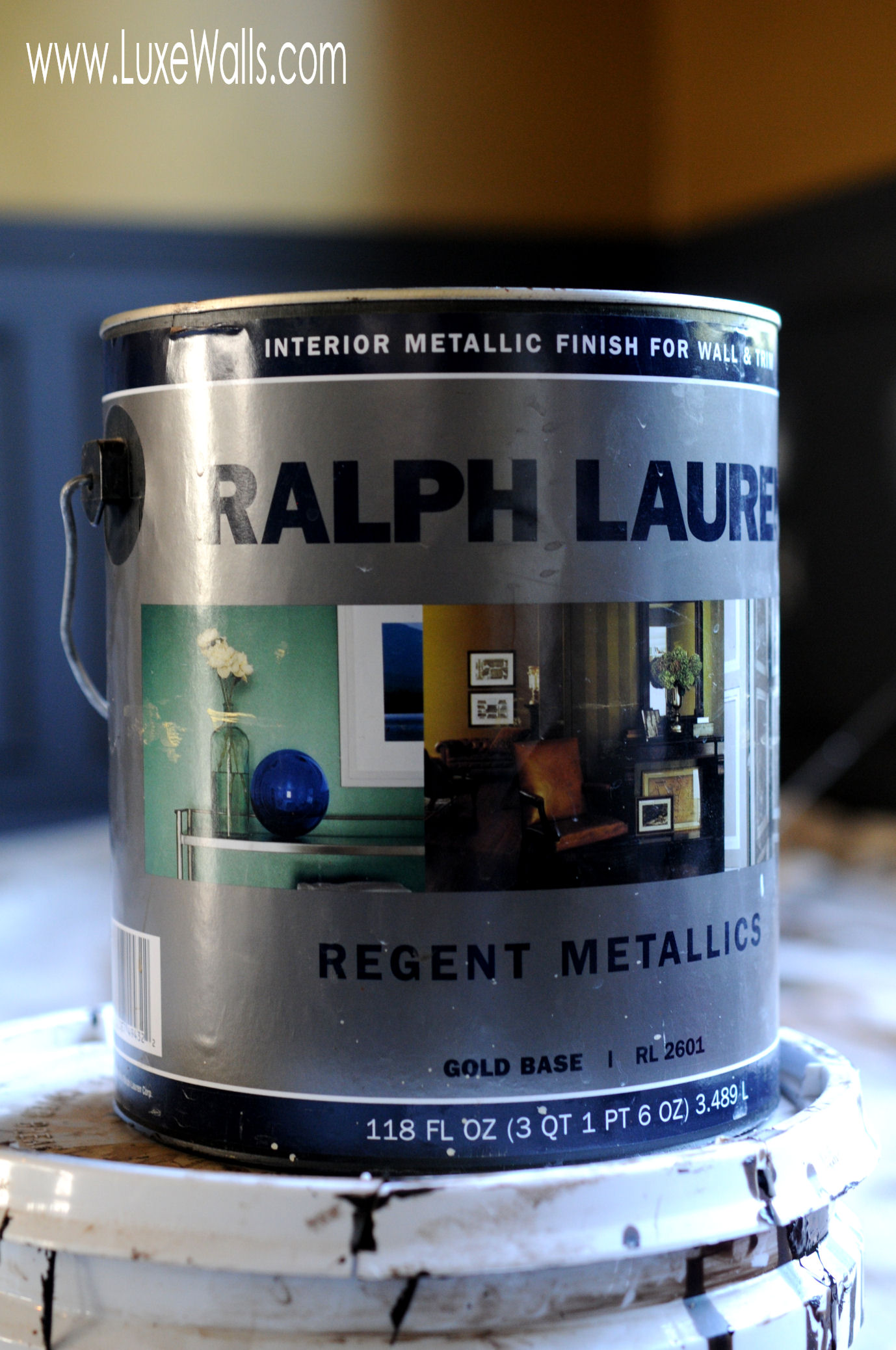 Ralph Lauren Regent Metallics, just one of several products used to complete this transformation